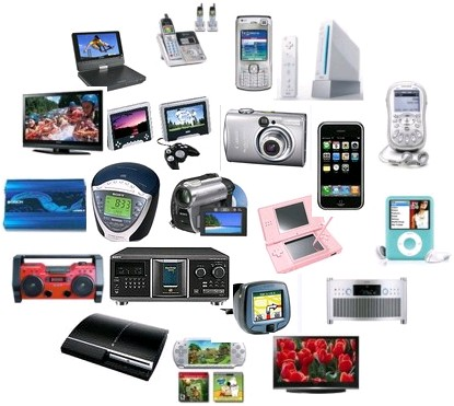electronic change items brand names